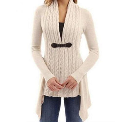 Cardigan Long Sleeve Sweater (Khaki)  - Kwikibuy Amazon Global