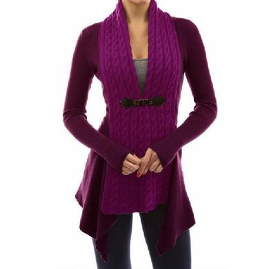 Cardigan Long Sleeve Sweater (Purple)  - Kwikibuy Amazon Global