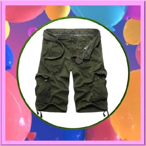Casual-Loose-Fit-Cargo-Shorts-Army-Green  - Kwikibuy Amazon Global