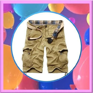 Casual-Loose-Fit-Cargo-Shorts-Khaki  - Kwikibuy Amazon Global