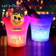 Load image into Gallery viewer, 🎃 *7) Color LED Light Up Ice Bucket  - Kwikibuy Amazon Global Online S Hopping Mall *7) Changeable Colors: Red, Yellow, Blue, Green, Purple, Fuchsia, Blue