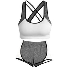 Load image into Gallery viewer, 🍀 Criss Cross Crop Top and Leggings Set (2 Sizes - 5 Colors)  - Kwikibuy Amazon Global