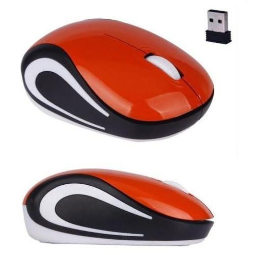 Mini 2.4 GHz Wireless Optical Mouse (Orange) - Kwikibuy.com Official Site©