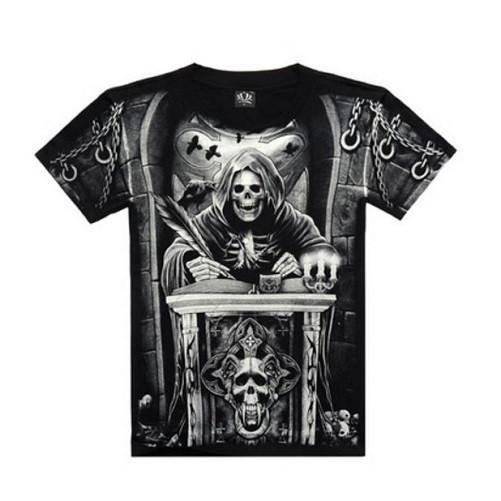 Death Clerk Skull 3-D Printed T-Shirts | Kwikibuy Amazon | United States
