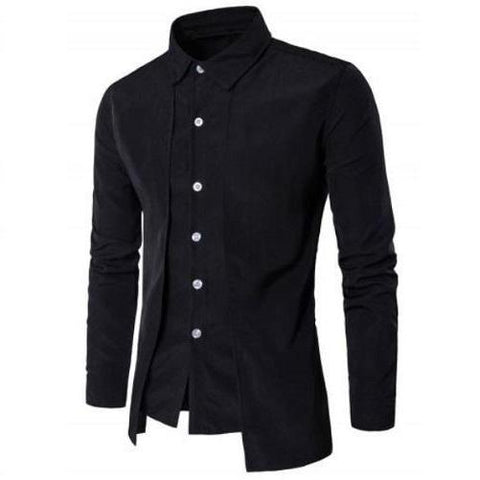 Shop-Now-Designer-Double-Panel-Long-Sleeve-Shirt-Black-Kwikibuy.com-All-Men-Clothing-Dress-Shirts-Tops