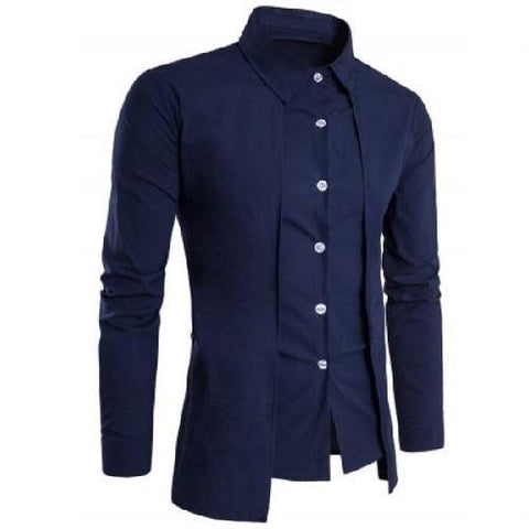 Shop-Now-Designer-Double-Panel-Long-Sleeve-Shirt-Blue-Kwikibuy.com-All-Men-Clothing-Dress-Shirts-Tops