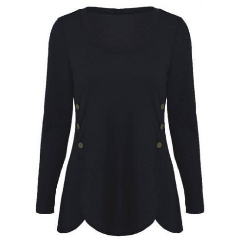 Shop-Now-Double-Breasted-Asymmetrical-Button-Blouses-Black-Kwikibuy.com-Women-Clothes-Tops