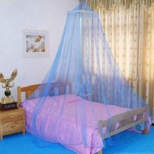 Mesh Mosquito Netting Bed Canopy (Blue) | Kwikibuy Amazon | United States | Bedding | Mosquito Nets | Screens | Zeka | West Nile | Chikungunya | Virus | Protection | Repellent