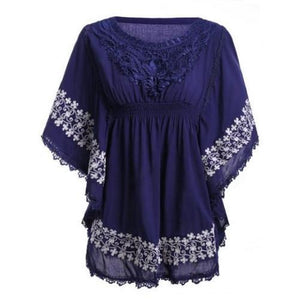 Lace Batwing Sleeve Blouse (Black)  - Kwikibuy Amazon Global