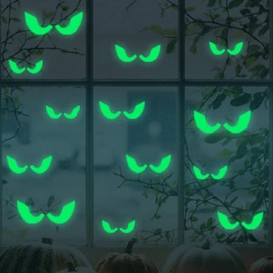 👻 Eyes Glowing In The Dark Decal Stickers (18 Pieces Set)  - Kwikibuy Amazon Global Online S Hopping Mall Create a creepy atmosphere, perfect for Halloween