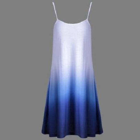 Fashionable Ombre Cami Dress (Blue) - Kwikibuy.com™® Official Site