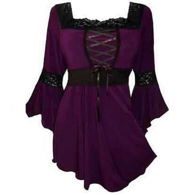 Victorian Gothic Steampunk Lace Up Blouse (4 Colors)  - Kwikibuy Amazon Global