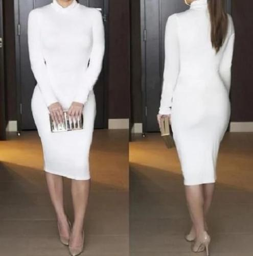 Fashionable Bodycon Dress $34 (White) - Kwikibuy.com™® Official Site