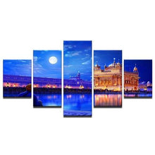Load image into Gallery viewer, 5 Panel Framed Wall Art (Indian Golden Temple)  - Kwikibuy Amazon Global