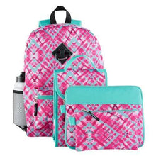 Load image into Gallery viewer, Backpack & Accessories 6-piece Set (Geometric)  - Kwikibuy Amazon Global