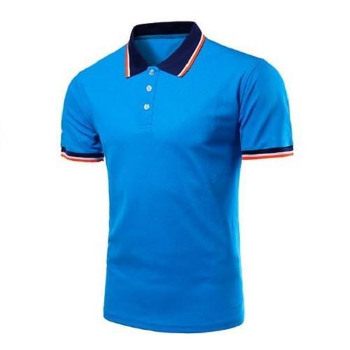 Short Sleeve Polo Shirts (Blue) - Kwikibuy Amazon