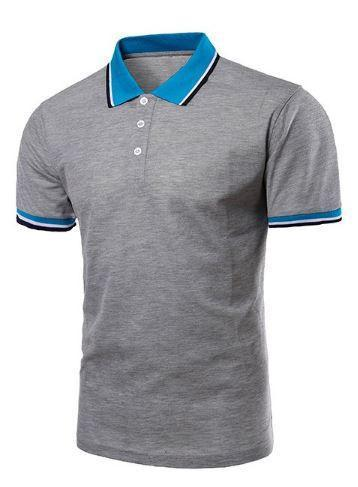 Short Sleeve Polo Shirts (Grey) - Kwikibuy Amazon