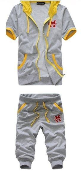 Soft Hoodie Short Sets $34.99 Light Grey Yellow - Kwikibuy.com™®