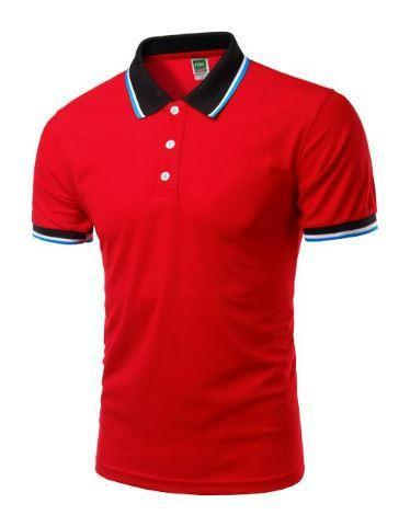 Short Sleeve Polo Shirts (Red) - Kwikibuy Amazon