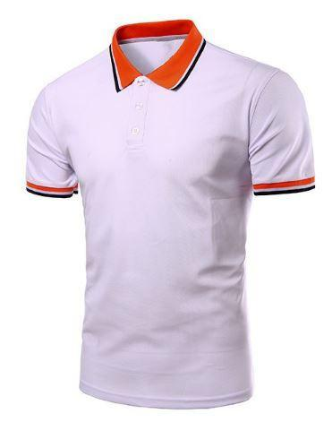 Short Sleeve Polo Shirts (White) - Kwikibuy Amazon