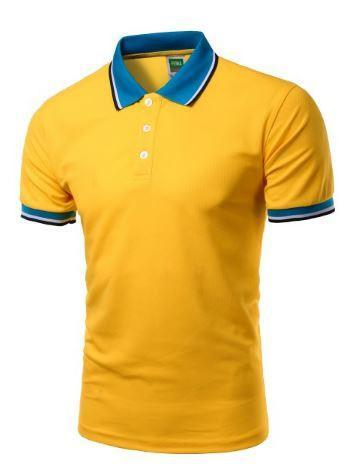 Short Sleeve Polo Shirts (Lemon Yellow) - Kwikibuy Amazon