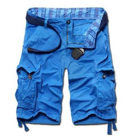Shop-Now-Casual-Loose-Fit-Cargo-Shorts-Azure-Blue-Kwikibuy.com-Active-wear-Men-Clothing-Shorts