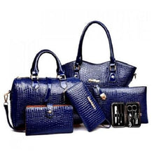 Load image into Gallery viewer, Stylish Crocodile Tote Bag Set (Black)  - Kwikibuy Amazon Global