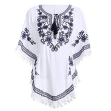 Load image into Gallery viewer, Bohemian Batwing Sleeves Embroidery Blouse (3 Colors)  - Kwikibuy Amazon Global