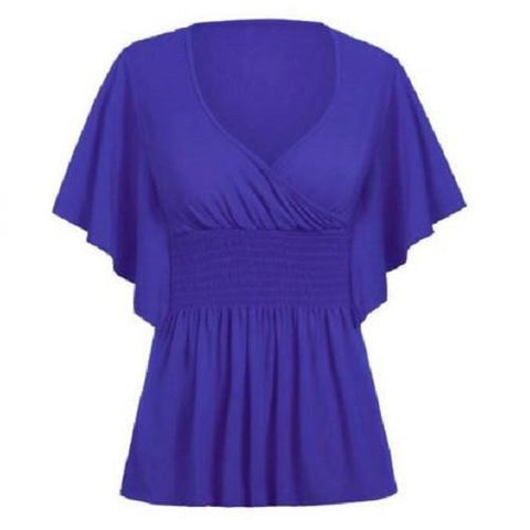 Candy Color Butterfly Sleeve Blouse $29.99 Blue Berries - Kwikibuy.com™®