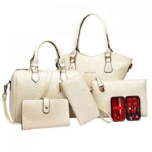 Stylish Crocodile Tote Bag Set  - Kwikibuy Amazon Global