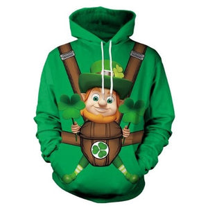 St.-Patrick's-Day-Lucky Grass-Hoodie  - Kwikibuy Amazon Global