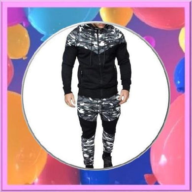 Grey-Camouflage-2-Piece-Hoodie-Set  - Kwikibuy Amazon Global