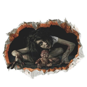 Halloween Party Scary Girl #3 3D Wall Sticker  - Kwikibuy Amazon Global