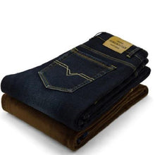 Load image into Gallery viewer, High-Quality-Men's-Winter-Jeans-Black  - Kwikibuy Amazon Global