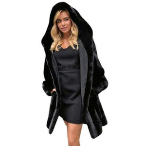 Hooded-Fur-Parka-Black  - Kwikibuy Amazon Global