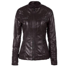 Load image into Gallery viewer, Hooded-Leather-Jacket-Black  - Kwikibuy Amazon Global