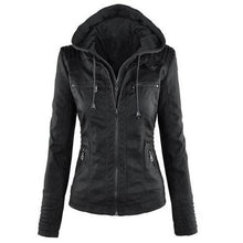 Load image into Gallery viewer, Hooded Leather Jacket (5 Colors - 8 Sizes)  - Kwikibuy Amazon Global