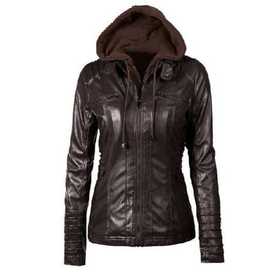 Hooded Leather Jacket (5 Colors - 8 Sizes)  - Kwikibuy Amazon Global