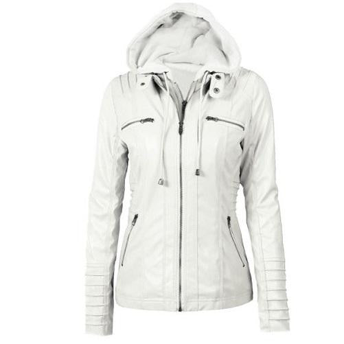 Hooded Leather Jacket (5 Colors)  - Kwikibuy Amazon Global
