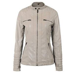 Hooded-Leather-Jacket-White  - Kwikibuy Amazon Global