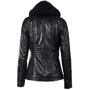 Hooded-Leather-Jacket-Black  - Kwikibuy Amazon Global