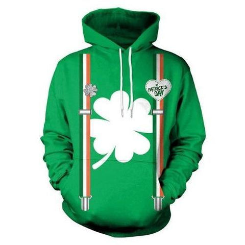 St.-Patrick's-Day-Ireland Clover-Hoodie  - Kwikibuy Amazon Global