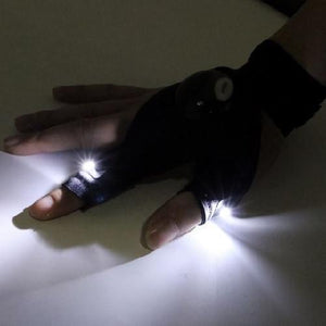 LED Glove Flashlight - Kwikibuy Amazon Global Power: 2 x Button Batteries (Included) Options: left and/or right hand gloves Material: Nylon Outdoor activities