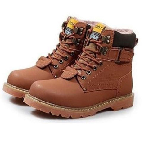 Leather Combat Snow Boots $48 (Brown) - Kwikibuy.com™® Official Site~Free Shipping