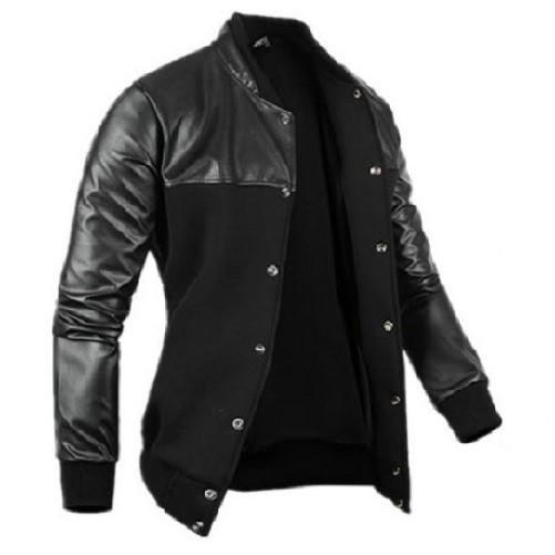 Leather-Leisure-Jacket-Black  - Kwikibuy Amazon Global