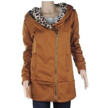 Load image into Gallery viewer, Leopard Fleece Hooded Jackets (6 Sizes - 3 Colors)  - Kwikibuy Amazon Global