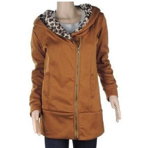 Leopard Fleece Hooded Jackets (6 Sizes - 3 Colors)  - Kwikibuy Amazon Global
