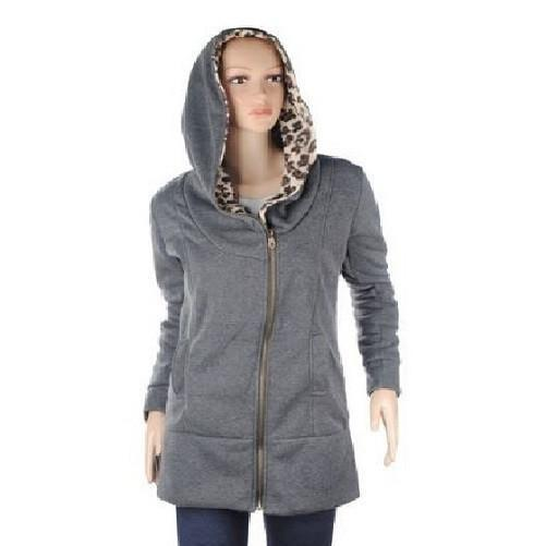 Leopard Fleece Hooded Jackets $27.01 - God Degree Clothing And Accessories™® - GD's™®