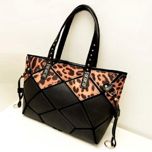 Leopard Print Leather Tote Bags  - Kwikibuy Amazon Global