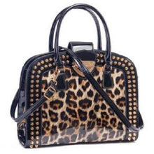 Load image into Gallery viewer, Leopard Print Patent Leather Handbags (Black)  - Kwikibuy Amazon Global